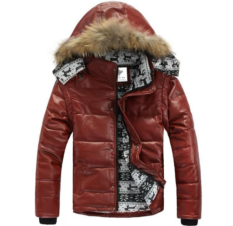 Winter jacket made of leather and fur