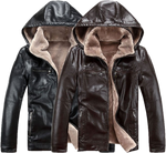 Winter, leather jacket