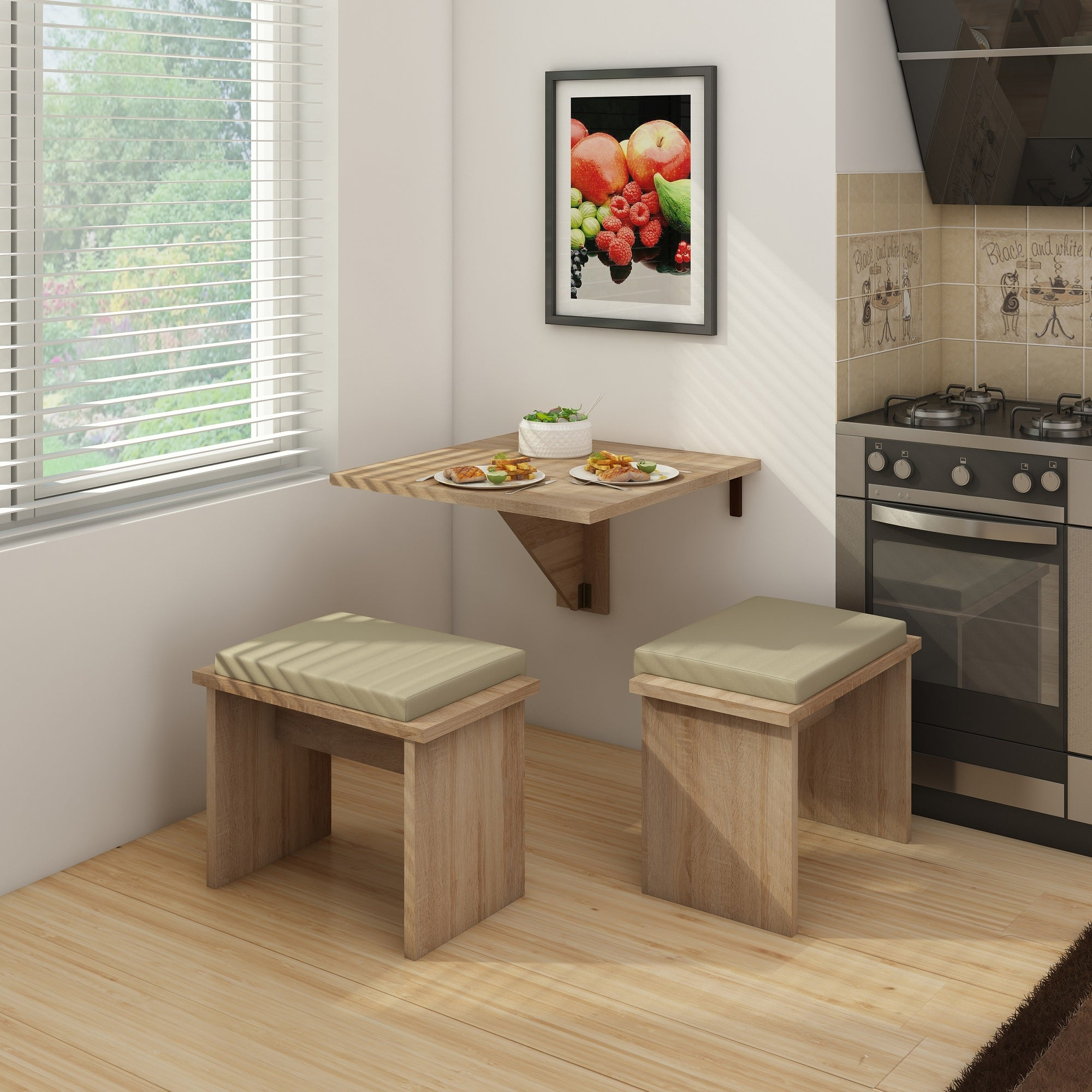Expert B Wall-Mounted Folding Dining Table
