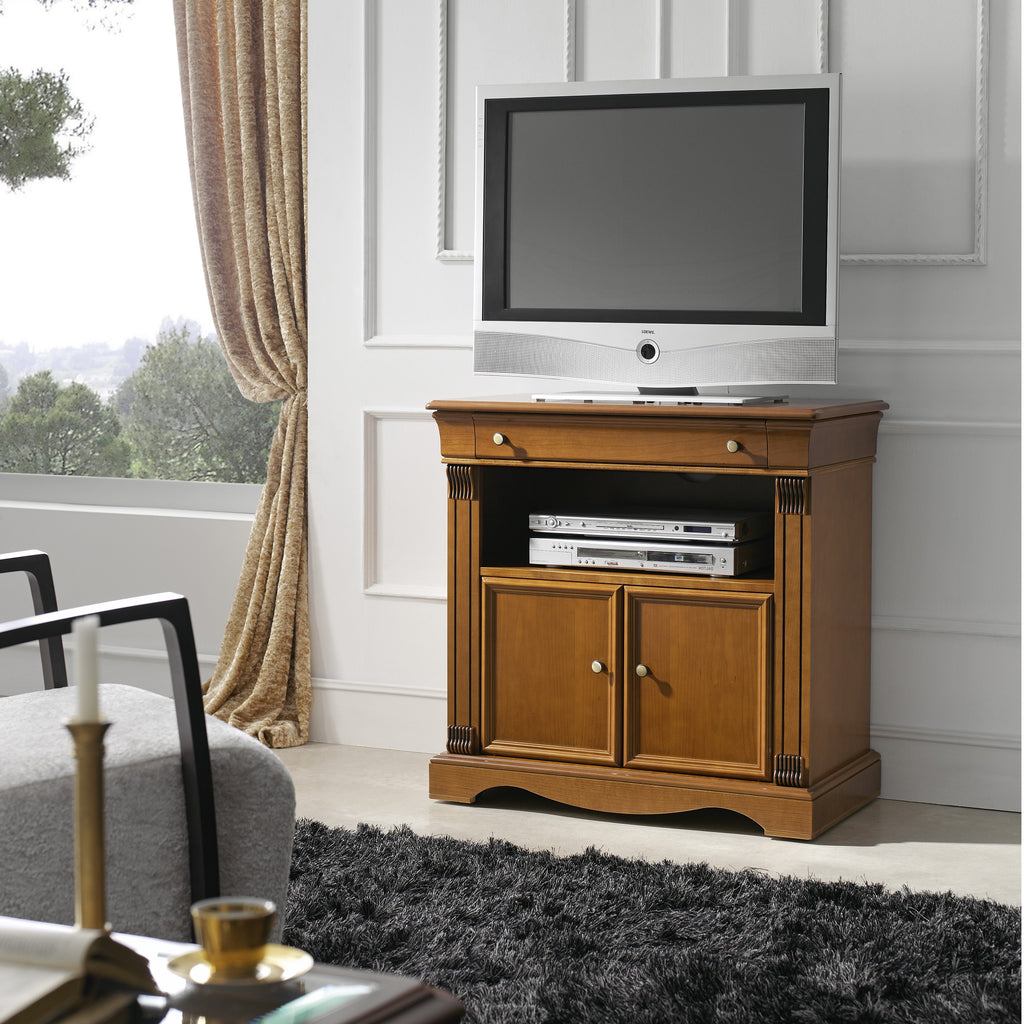 Rig 2 Cabinets 1 Drawer Solid Wood TV Stand - Furniture.Agency