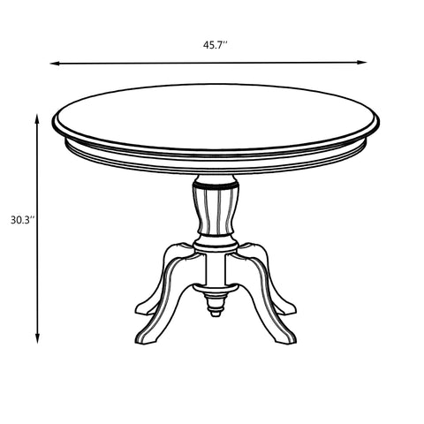 Sofia Round Solid Wood Dining Table