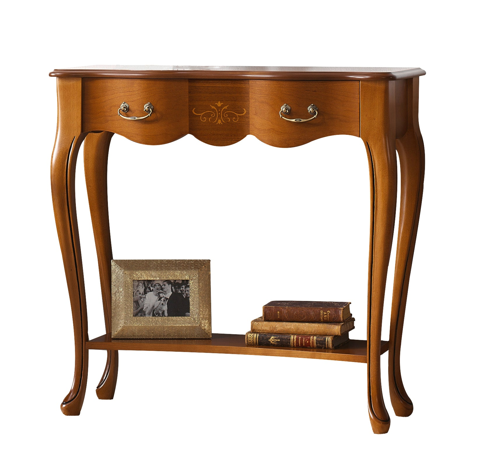 Golen Solid Wood Console Table With Shelf