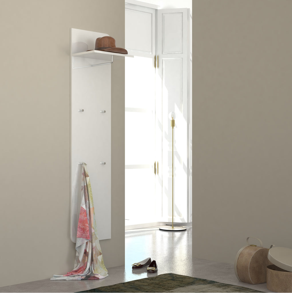 GOCCIA White Gloss Hall Tree - Furniture.Agency