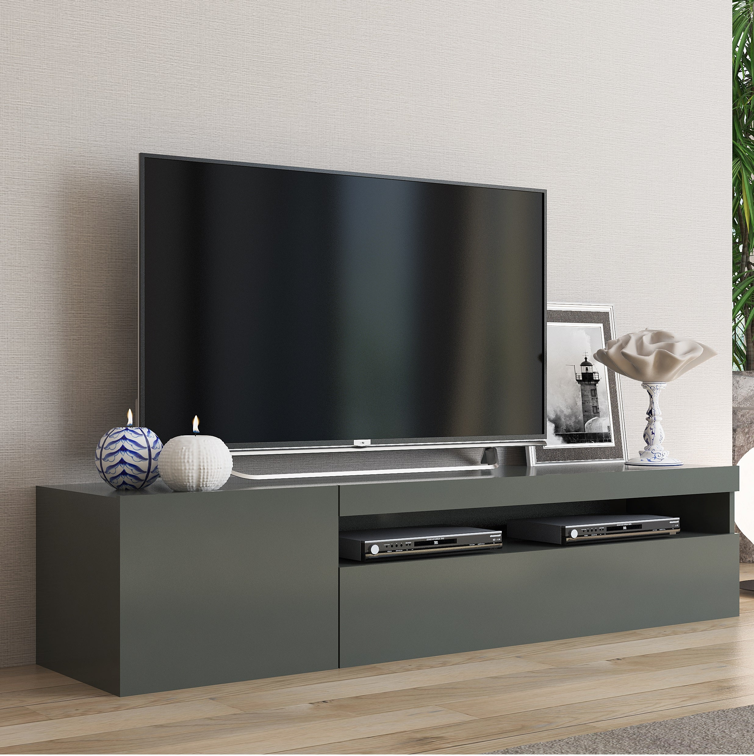 DAIQUIRI 61 inch TV Stand, Multiple Finishes