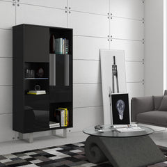 King High Gloss Side Cabinet, Multiple Finishes - Furniture.Agency