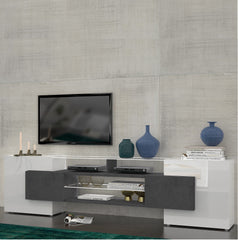 SLAVE 4 Cabinets High Gloss TV Stand, Multiple Finishes