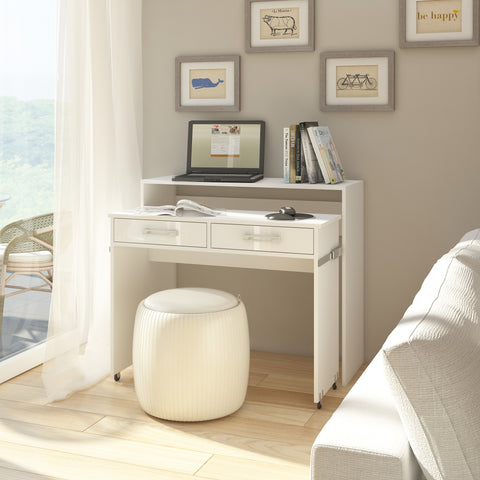Zoom 2 Drawers Pull-Out Desk,  Multiple Finishes