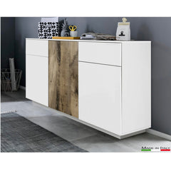 CROSS Small White&Perera Sideboard - Furniture.Agency