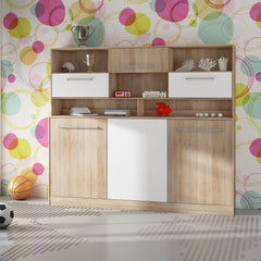 Roger European Single Kids Murphy Bed With Storage - Furniture.Agency