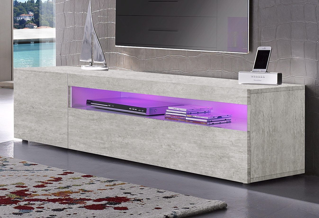 DAIQUIRI High Gloss TV Stand, for TVs up to 60""
