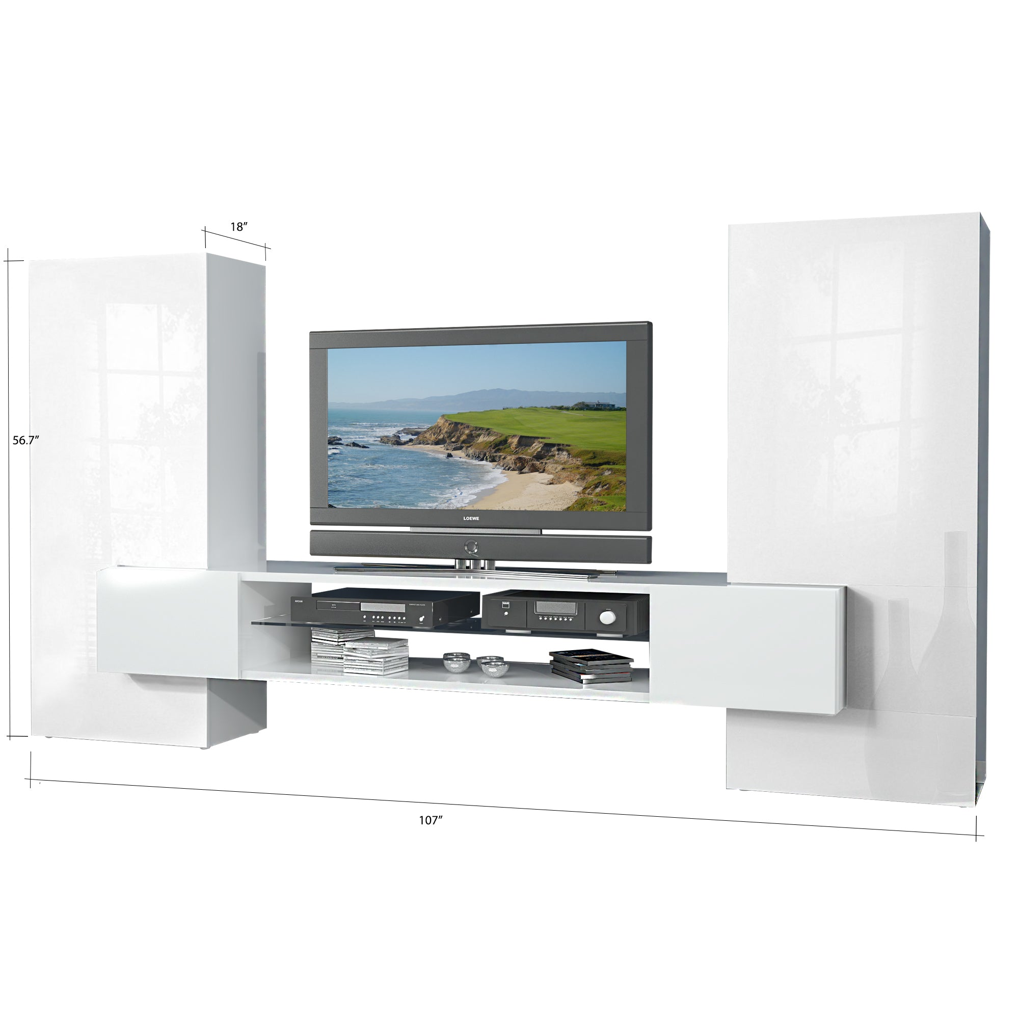 AKKA High Gloss TV Set