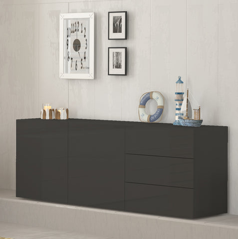 METIS 3 Drawers 2 Cabinets Sideboard, Multiple Finishes