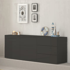 METIS 3 Drawers 2 Cabinets Sideboard, Multiple Finishes - Furniture.Agency