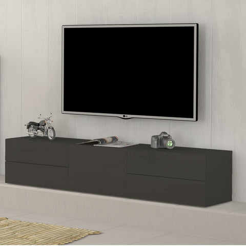 METIS Large High Gloss TV Stand, for TVs up to 75""
