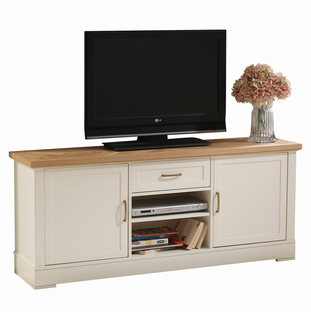 Carson 2 Cabinets 1 Drawer Solid Wood TV Stand - Furniture.Agency