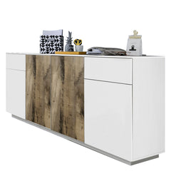 CROSS Large White&Perera Sideboard - Furniture.Agency