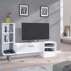 "York TV Stand / Entertainment Center for TV up to 55"" - Furniture.Agency"