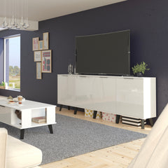Sven 94 inch High Gloss Sideboard - Furniture.Agency