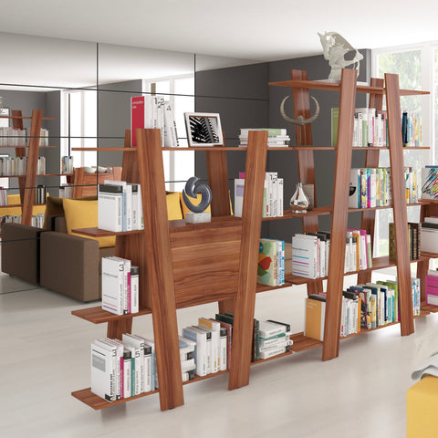 Via Ladder Bookshelf With Cabinet