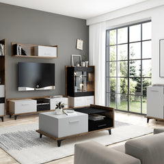 Box One Drawers One Cabinet Coffee Table - Furniture.Agency