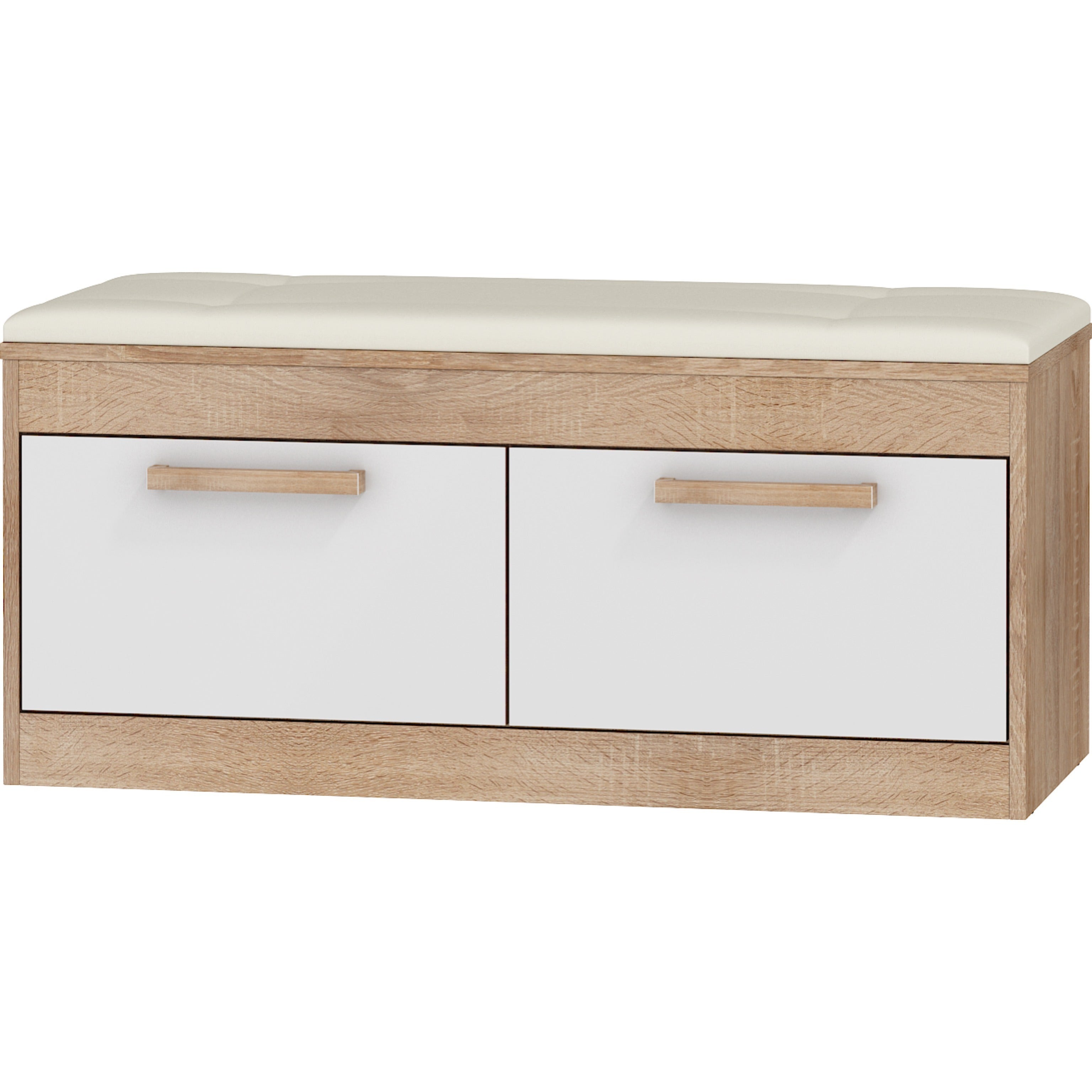 Maximus Upholstered 2 -Cabinet Entryway Storage Bench/ Shoe Cabinet