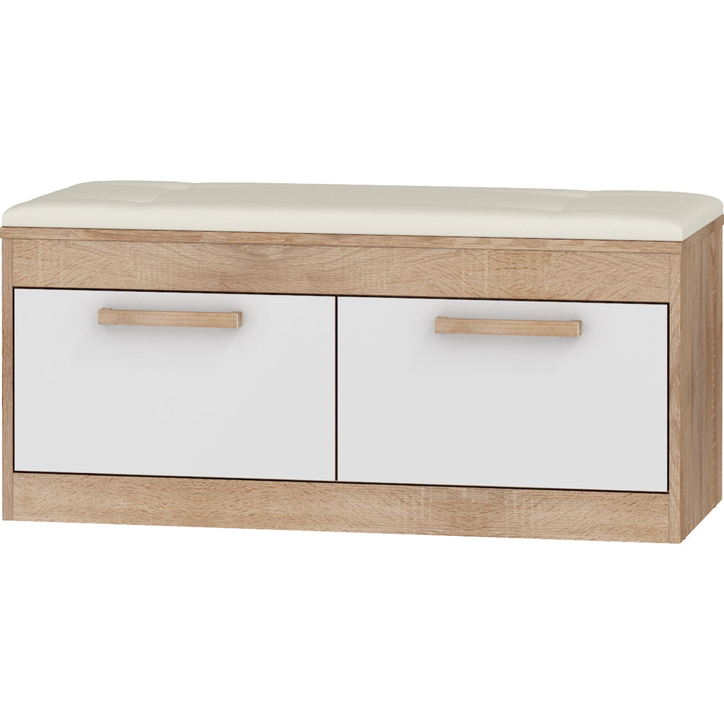 Maximus Upholstered 2 -Cabinet Entryway Storage Bench/ Shoe Cabinet - Furniture.Agency