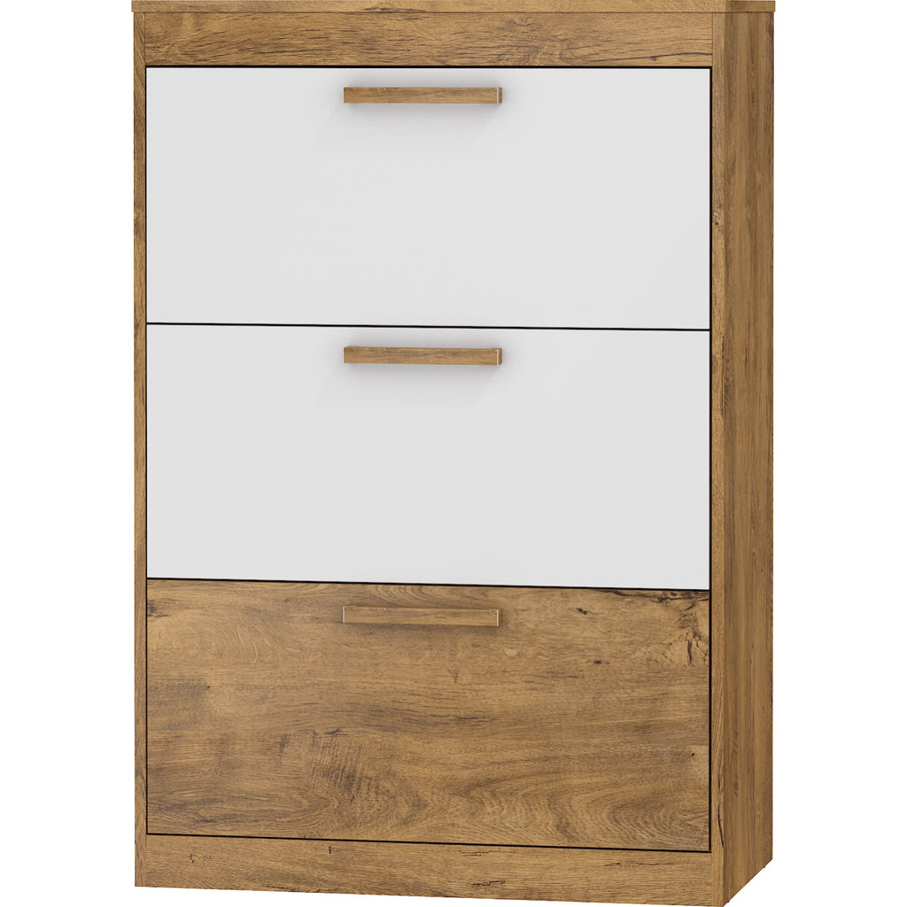 Maximus 3-Door Shoe Cabinet - Furniture.Agency