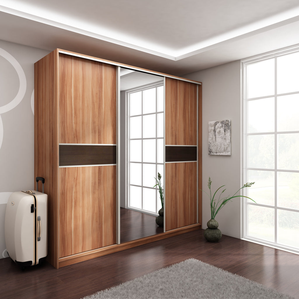 PUERTO Sliding 3-Door Mirror Wardrobe