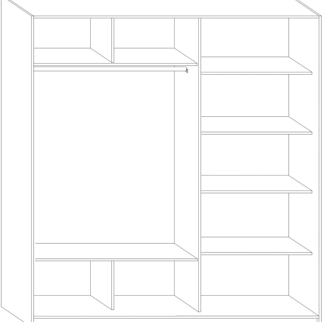 RICO Sliding 2-Door Wardrobe - Furniture.Agency