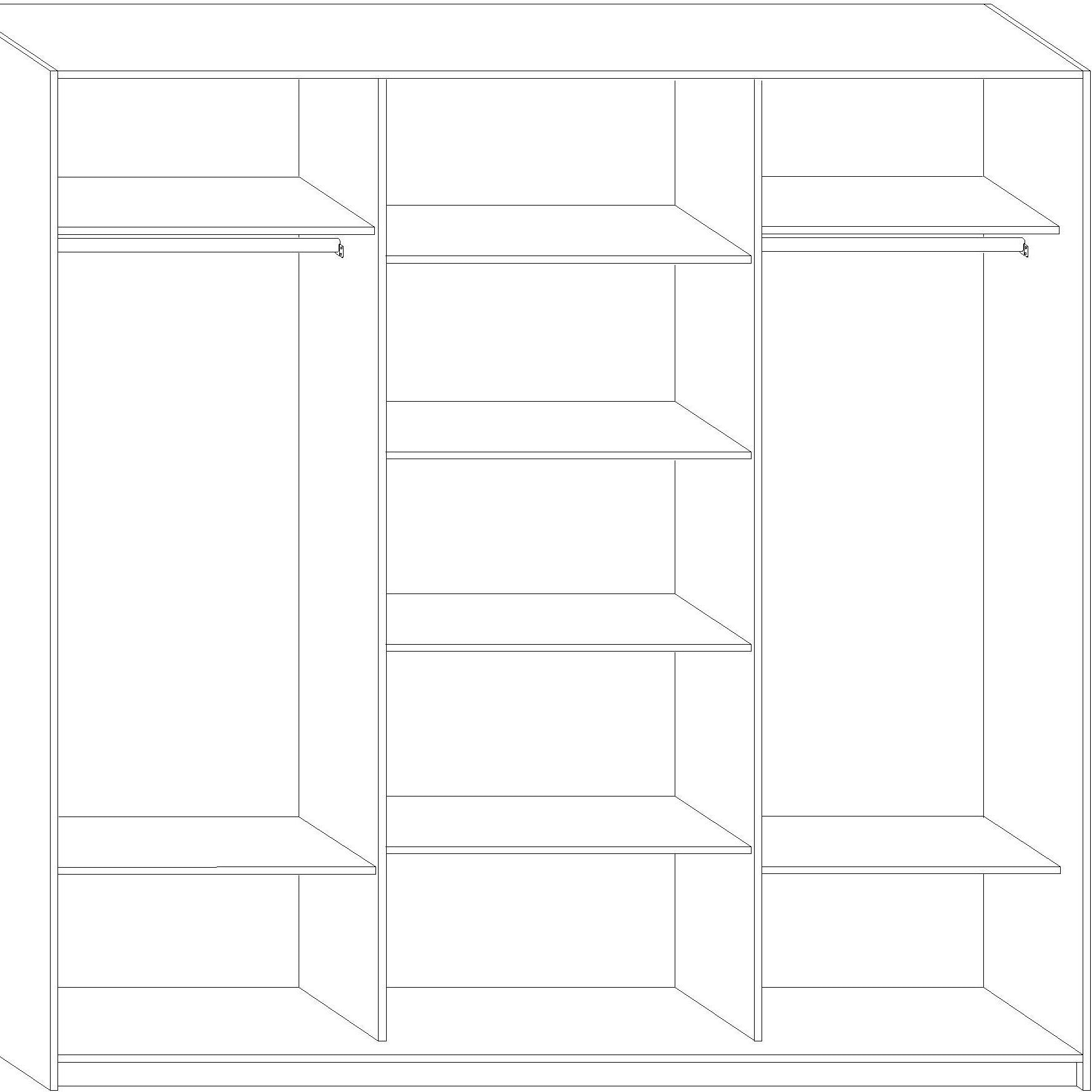 RICO Sliding 3-Door Wardrobe