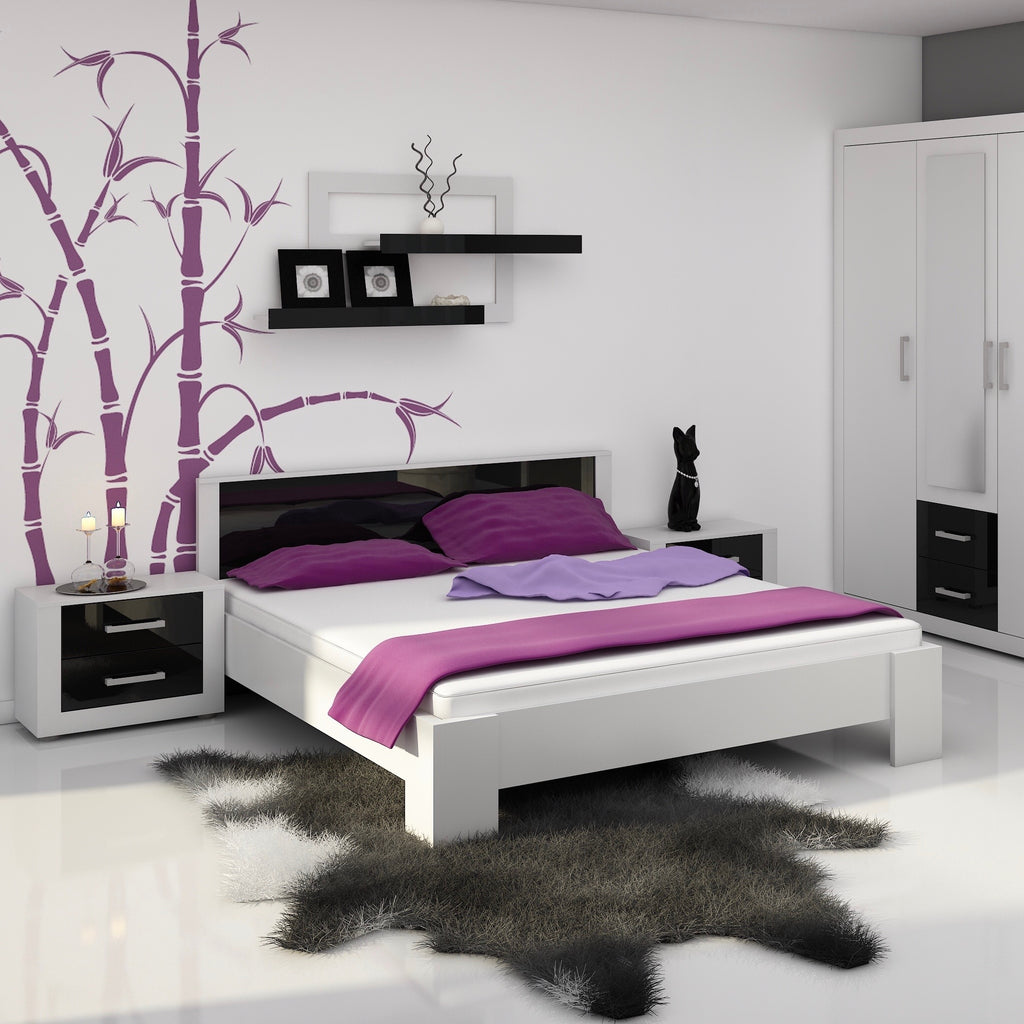 VIKI Platform Bed European Queen, With Mattress 63 x 78.7 - Furniture.Agency
