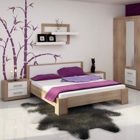VIKI Platform Bed European Queen, With Mattress 63 x 78.7
