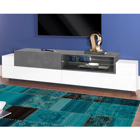 Asia 79 inch High Gloss TV Stand for TVs up to 85""