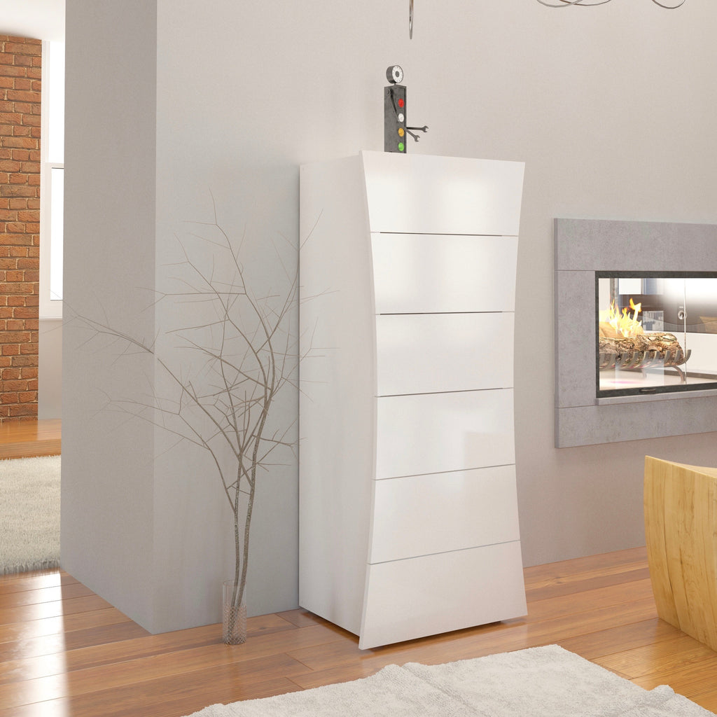 Arco High Gloss Chest of Drawers - Furniture.Agency