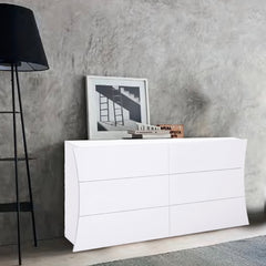 Arco High Gloss 6 Drawers Dresser