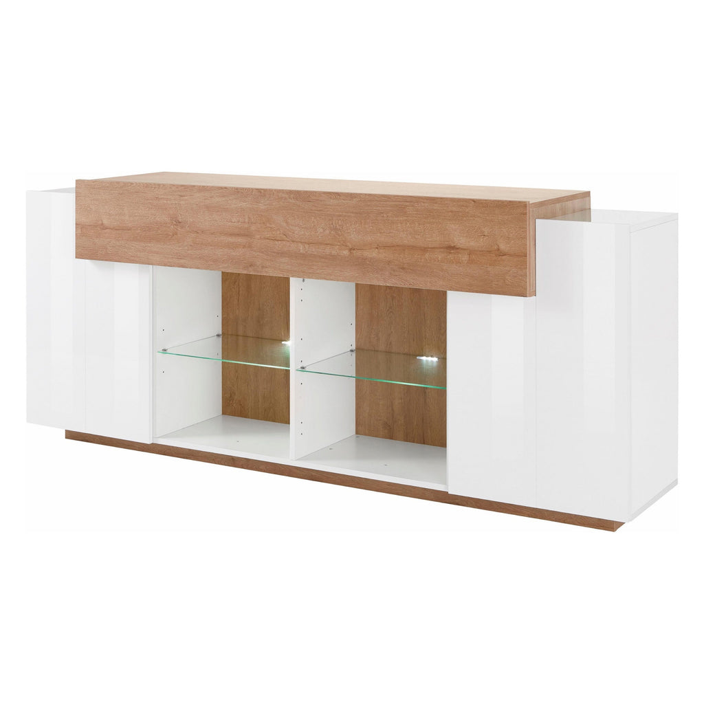 Asia 2 Cabinet High Gloss Sideboard - Furniture.Agency