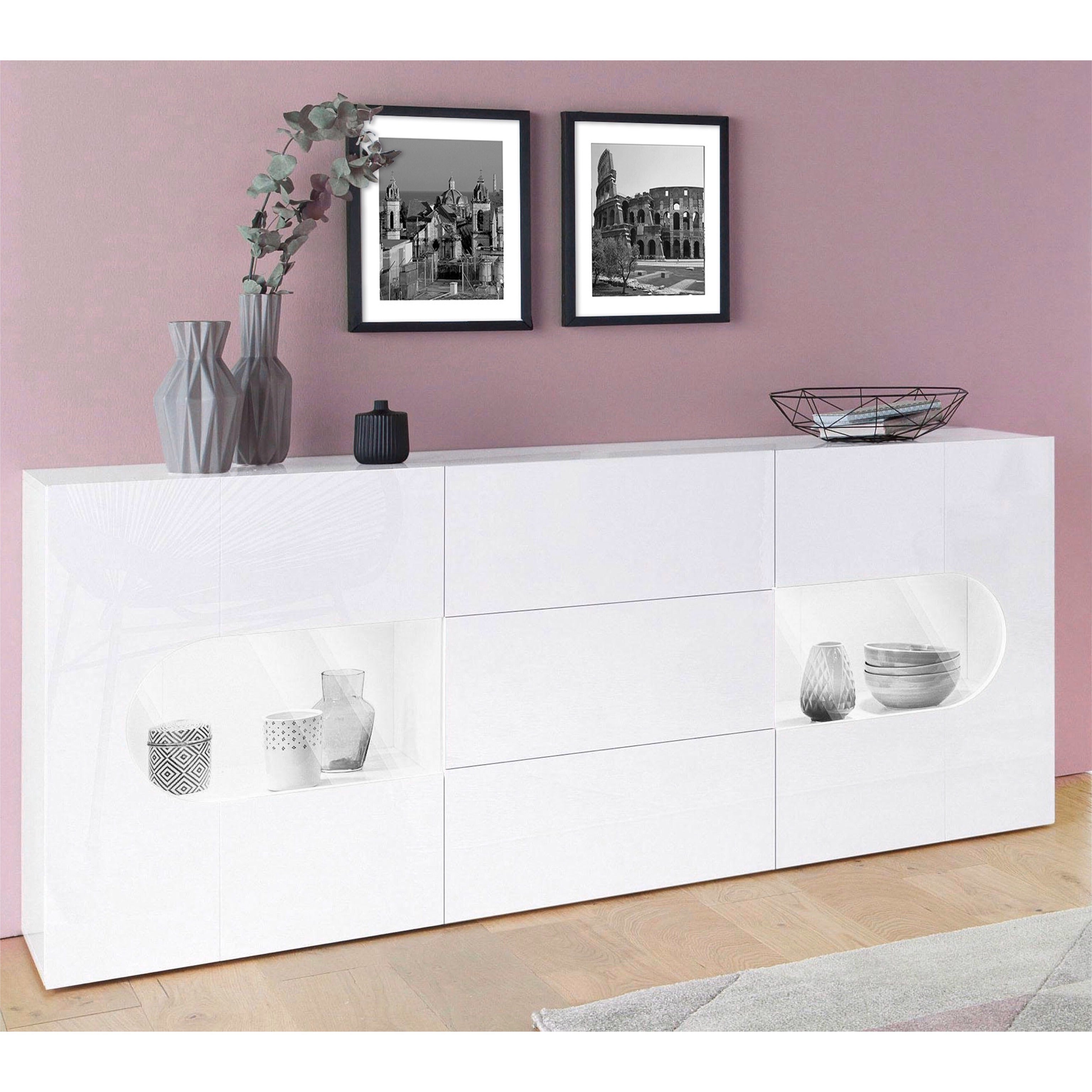 REAL 70-inch White Gloss Sideboard