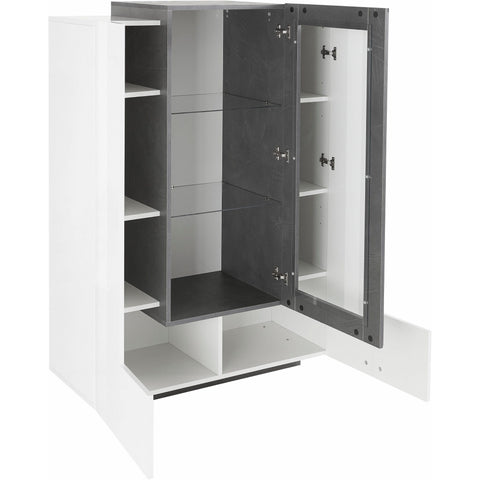 Asia Glass Door Side Cabinet