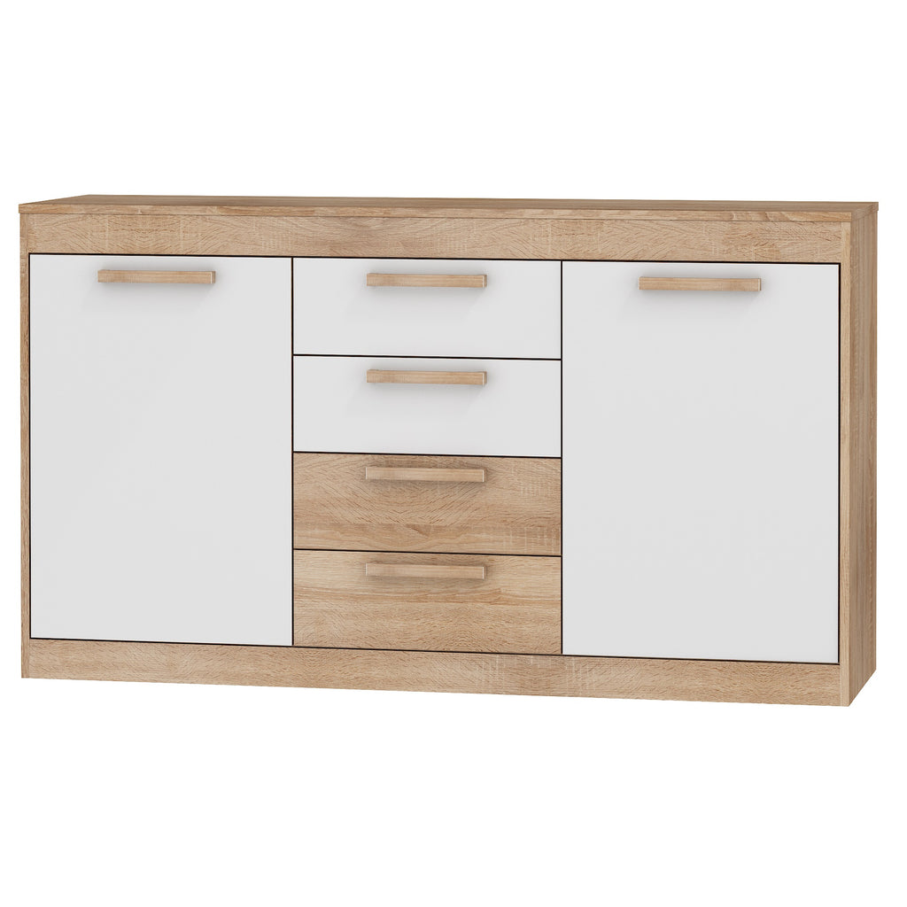 Maximus 2 Cabinets 4 Drawers Sideboard, Multiple Finishes - Furniture.Agency