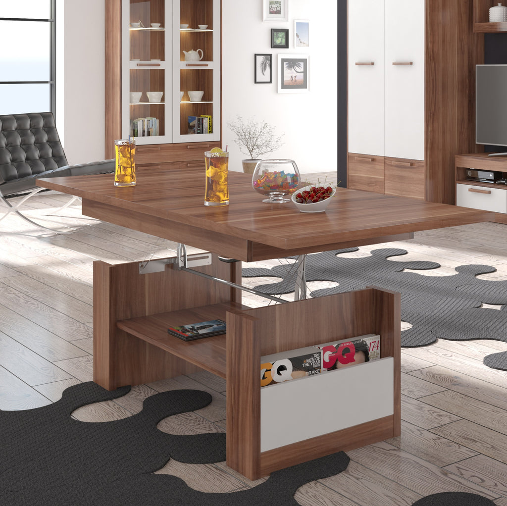 Maximus Adjustable Coffee Table With Extension, Multiple Finishes - Furniture.Agency