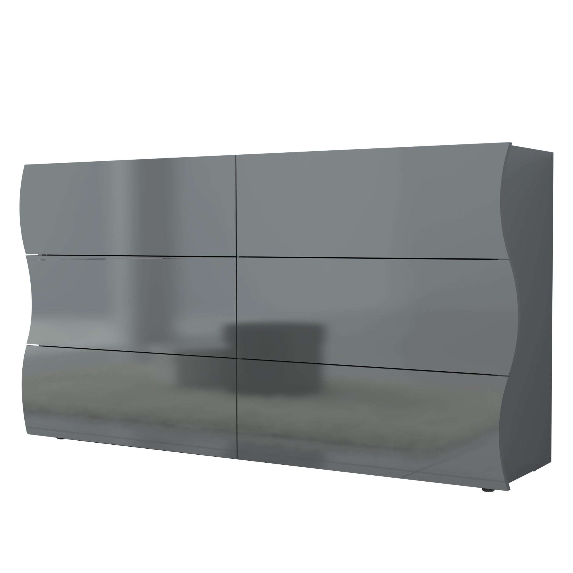 Onda High Gloss 6 Drawers Dresser