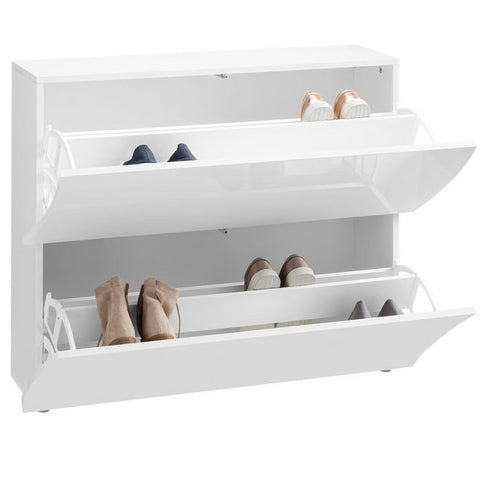 Onda White Gloss 2 Doors Shoe Cabinet