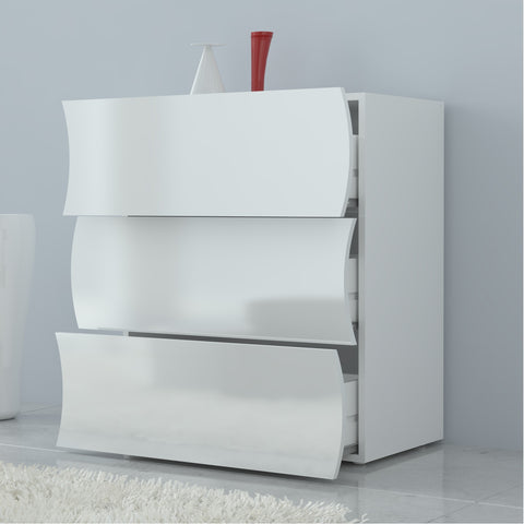 Onda High Gloss 3 Drawers Dresser