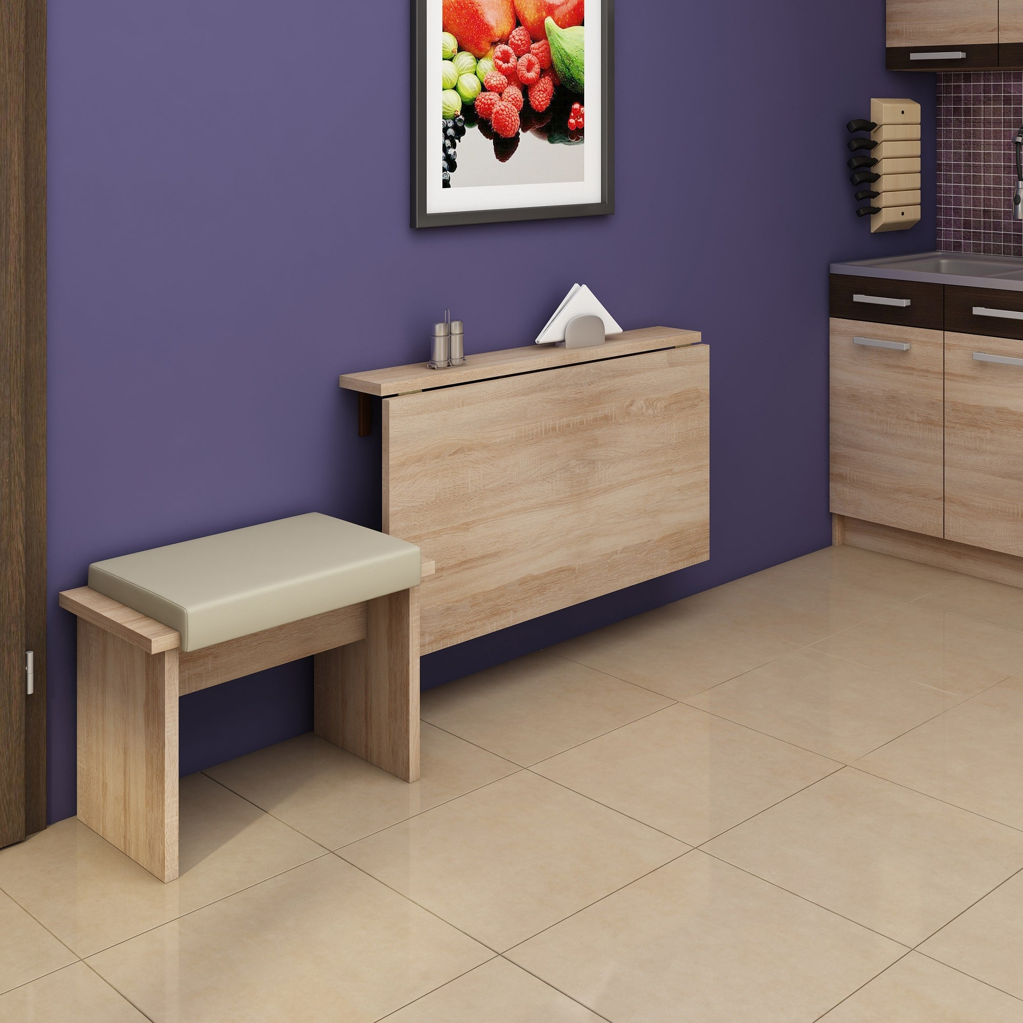 Expert D Wall-Mounted Drop Leaf Dining Table