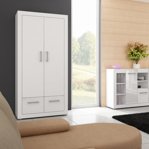 Viki 2 Doors 2 Drawers Armoire, Multiple Finishes