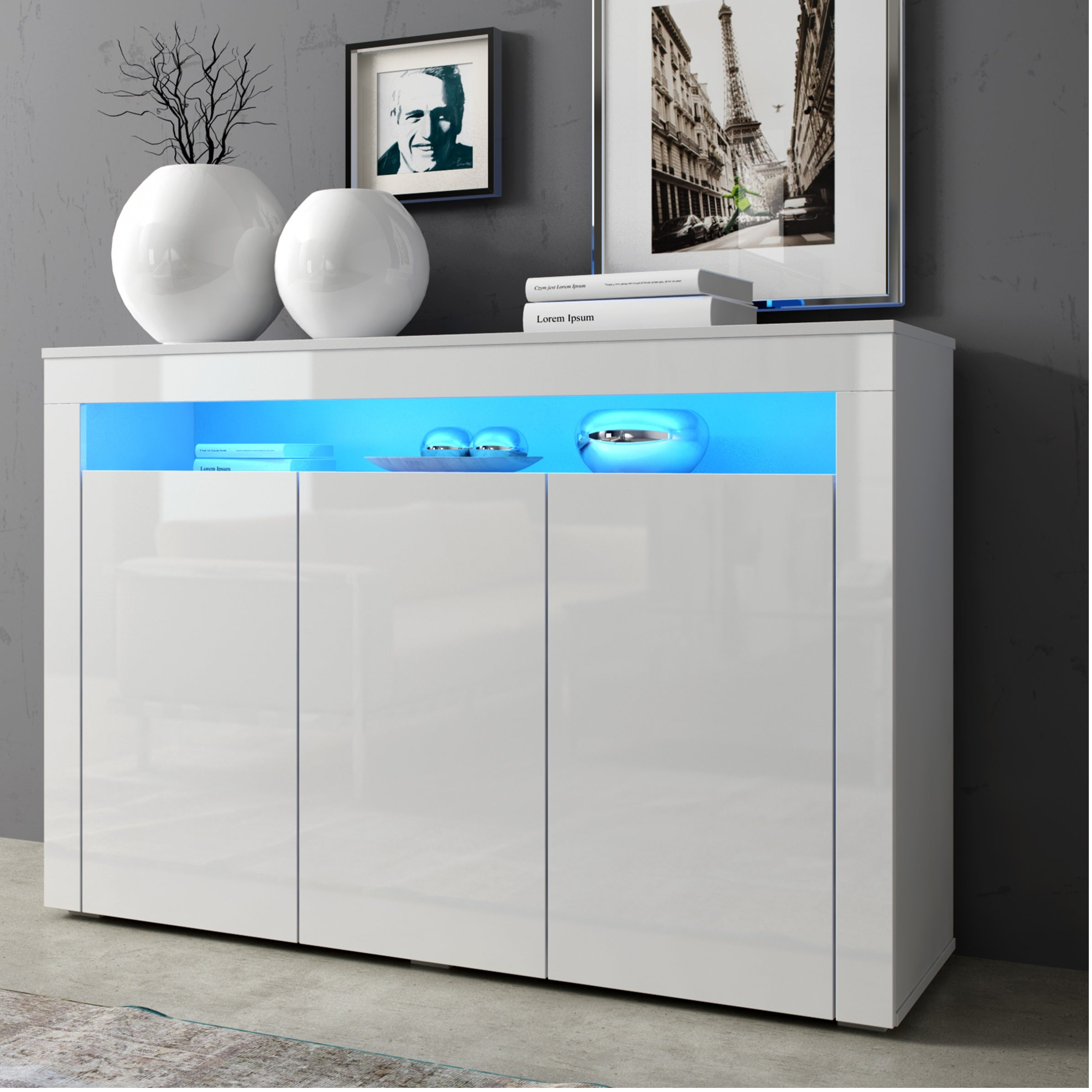 Sofia High Gloss Sideboard with LED
