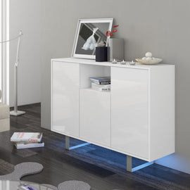King High Gloss Sideboard, Multiple Finishes - Furniture.Agency