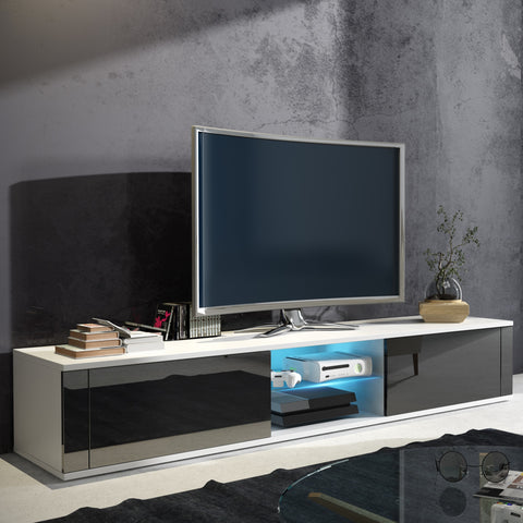 Hit TV Stand with LED, Multiple Finishes