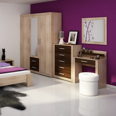 Viki 3 Door Wardrobe With Mirror, Multiple Finishes - Furniture.Agency