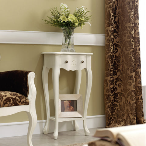 Golen Solid Wood End Table, White or Walnut
